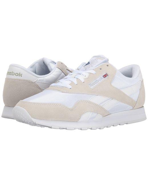 Reebok White Classic Nylon for men
