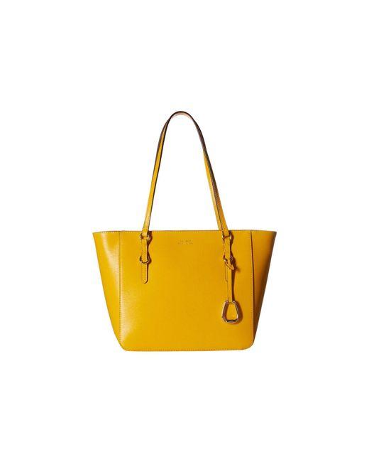 Lauren by Ralph Lauren - Yellow Bennington Shopper Medium (black) Handbags - Lyst
