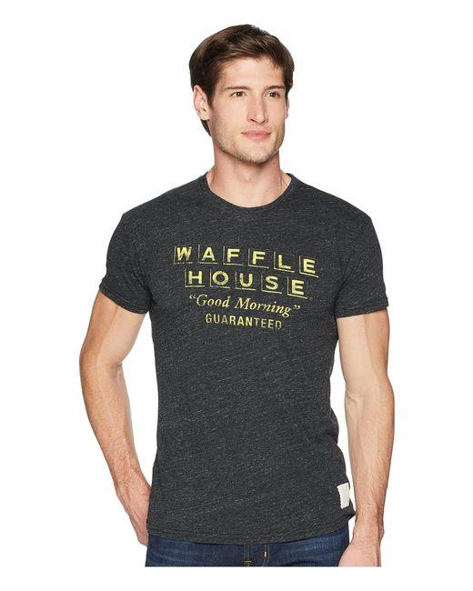 The Original Retro Brand - Short Sleeve Vintage Tri-blend Waffle House Tee (streaky Black) Men's T Shirt for Men - Lyst