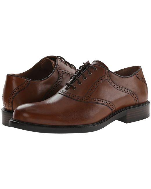 Johnston Murphy Brown Tabor Saddle Dress Oxford Mahogany Calfskin Men S Plain Toe