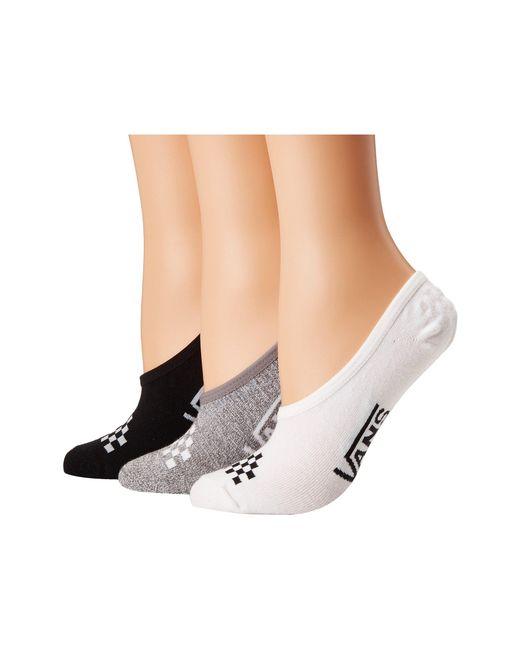 Vans - Multicolor Basic Assorted Canoodles 3-pack (multi) Women's No Show Socks Shoes - Lyst