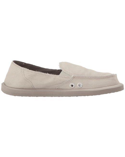 fd509331f2a Lyst - Sanuk Donna Daily (black) Women s Slip On Shoes in Natural