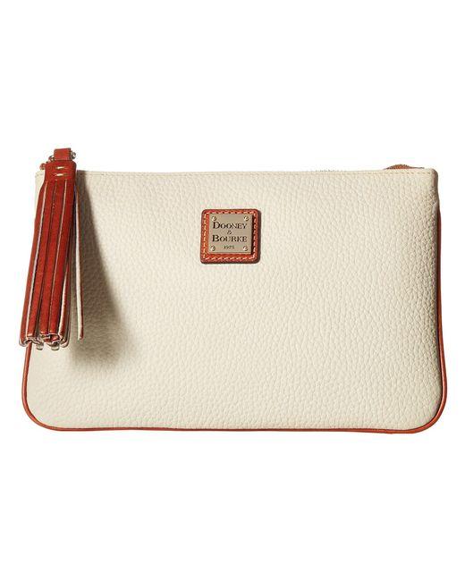 Dooney & Bourke - Multicolor Pebble Carrington Pouch (black/tan Trim) Handbags - Lyst
