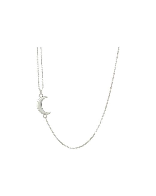 ALEX AND ANI - Metallic Pull Chain Moon Necklace (sterling Silver) Necklace - Lyst