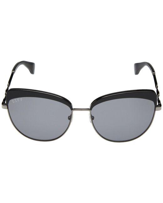 6ed5028c56f ... DIFF - Black Izzy (himalayan Tortoise grey) Fashion Sunglasses - Lyst  ...