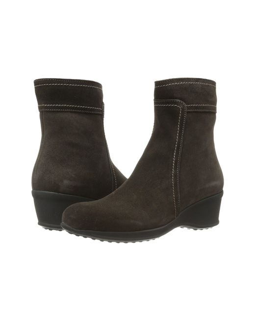 La Canadienne - Brown Finley (espresso Suede) Women's Zip Boots - Lyst