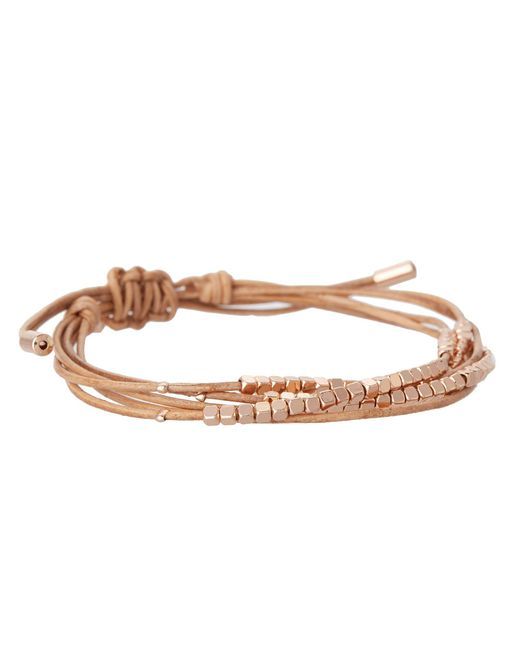 Fossil - Pink Skinny Nugget Wrap - Lyst