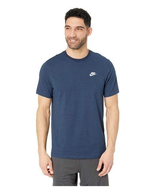 8deeec778 Lyst - Nike Nsw Club Tee (black/white) Men's T Shirt in Blue for Men