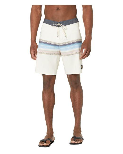 Quiksilver White Surfsilk Sun Faded 19 Boardshort for men