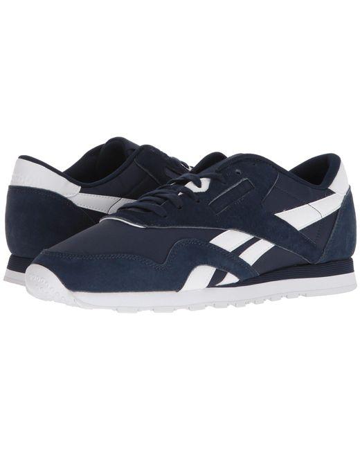 e29fb1c391da Reebok - Blue Classic Nylon Pn (collegiate Navy white) Men s Classic Shoes  for ...