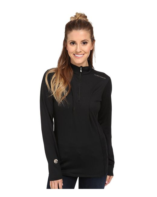 Hot Chillys   Black Micro-elite Chamois 8k Solid Zip-t   Lyst