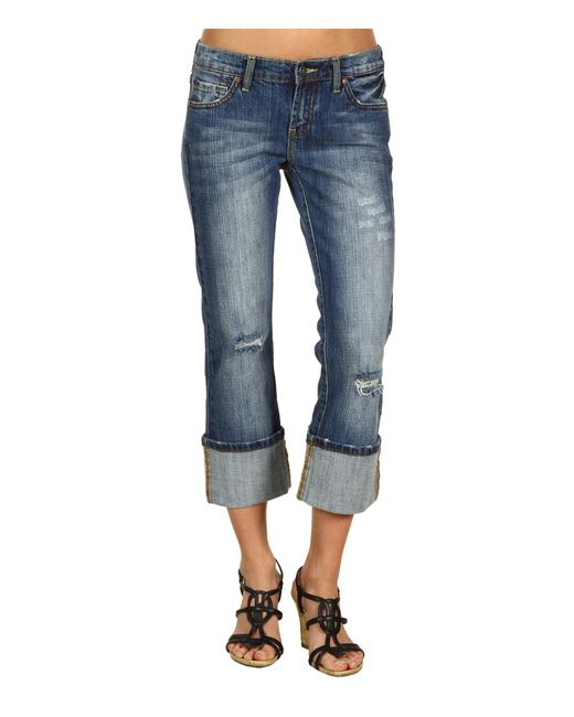Stetson Blue Classic Western Cropped Jean