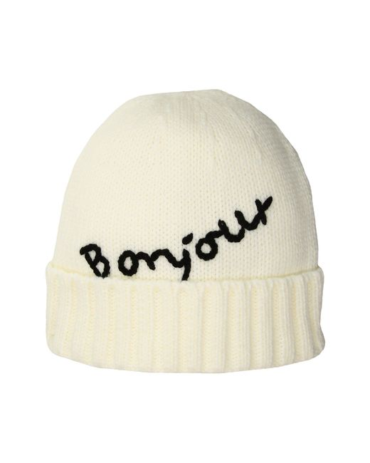 San Diego Hat Company - White Knh34171 Bonjour Beanie (ivory) Beanies - Lyst