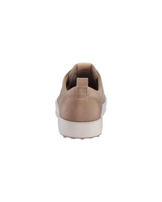 3f3f8d137ffb6 ... Ecco - Brown Soft Low Hydromax(r) (bright White) Men's Golf Shoes ...