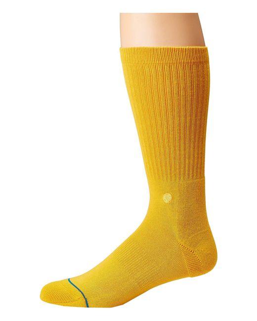 Stance - Metallic Icon (black/white) Men's Crew Cut Socks Shoes for Men - Lyst