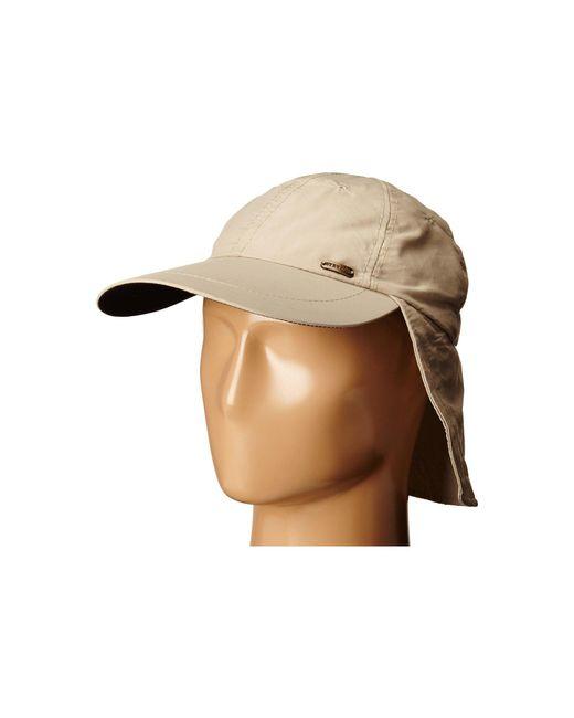 Stetson - Brown No Fly Zone Nylon Cap With Sun Shield (khaki) Caps for Men - Lyst