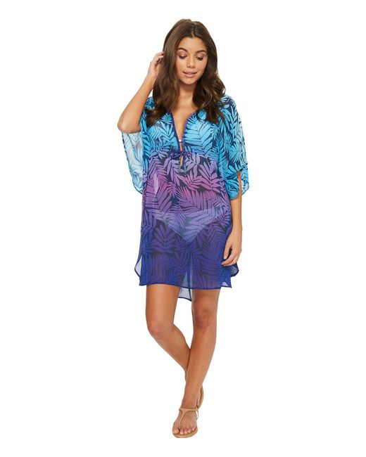 Bleu Rod Beattie - Blue Island Heat Caftan Cover-up - Lyst