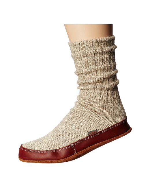 Acorn - Gray Slipper Sock (maine Woods Jacquard) Shoes - Lyst