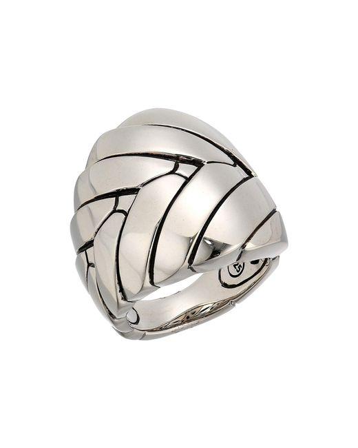 John Hardy - Metallic Modern Chain Large Ring (silver) Ring - Lyst