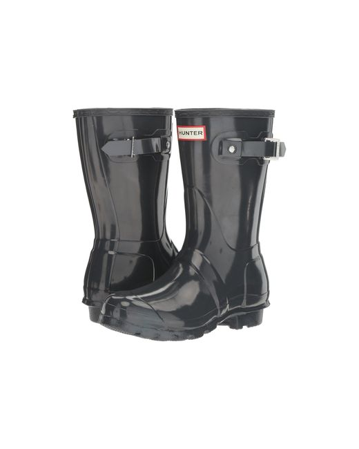Hunter Gray Original Short Gloss Rain Boots
