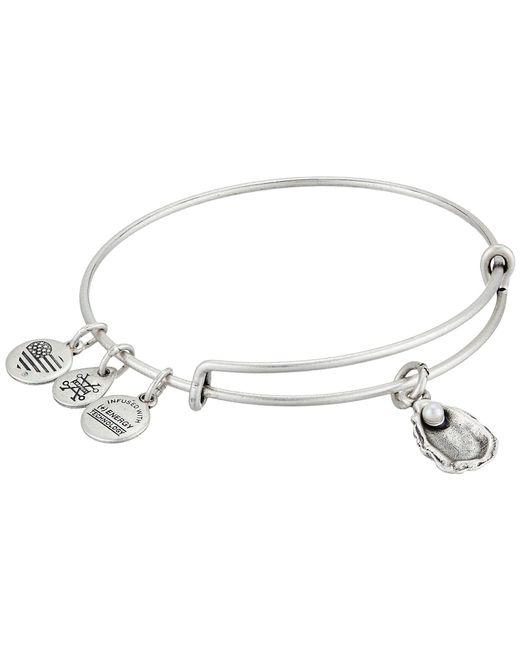 ALEX AND ANI - Metallic Seaside Oyster Ii Bangle (rafaelian Silver) Bracelet - Lyst
