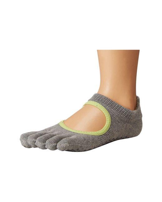 ToeSox - Gray Grip Full Toe Bellarina - Lyst