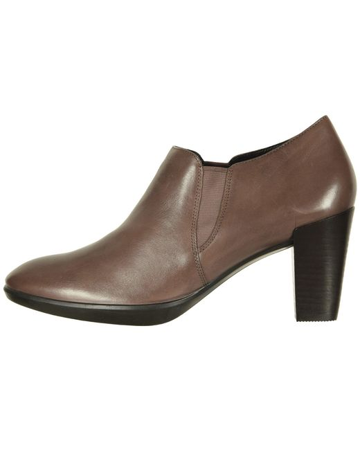 93197395d67 ... Ecco - Brown Shape 55 Plateau Stack Shootie (deep Taupe Calf Leather) High  Heels ...