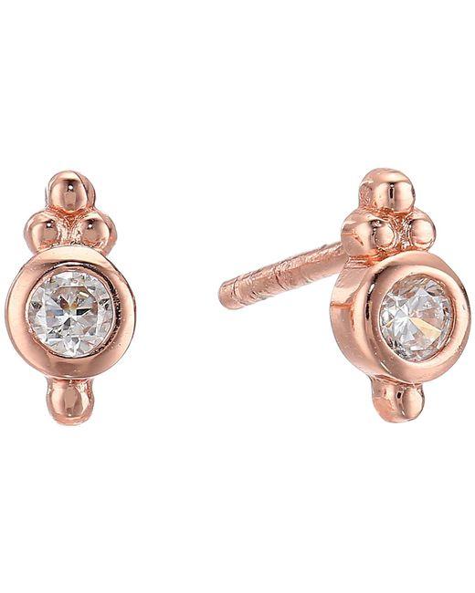 Shashi - Multicolor Ballerina Stud Earrings (rose Gold) Earring - Lyst
