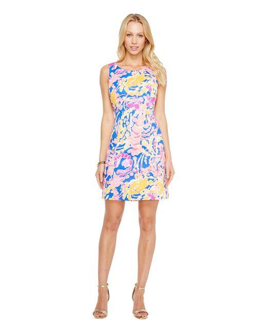 Lilly Pulitzer - Blue Courtney Shift (multi Sea Salt And Sun) Women's Dress - Lyst