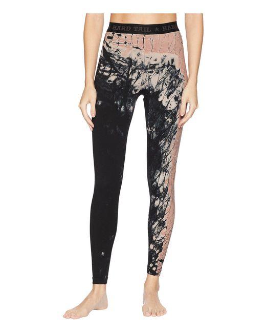 Hard Tail - Black Logo Yoga Leggings (diagonal Butterfly 1) Women's Casual Pants - Lyst