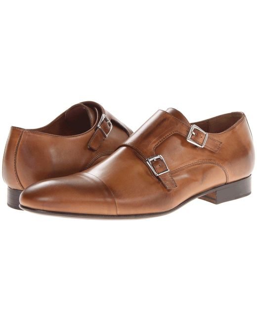 Massimo Matteo - Brown Dbl Monk Cap Toe (black) Men's Slip On Shoes for Men - Lyst