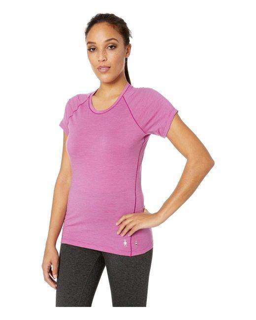 48c4bd70 Smartwool. Merino 150 Baselayer Pattern Short Sleeve (cascade Purple)  Women's Clothing