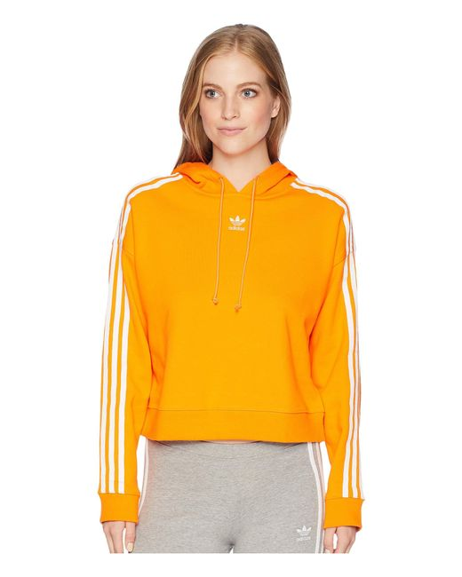 464fd43ce1ff3 Adidas Originals - Orange Cropped Hoodie (dust Pink) Women s Sweatshirt ...