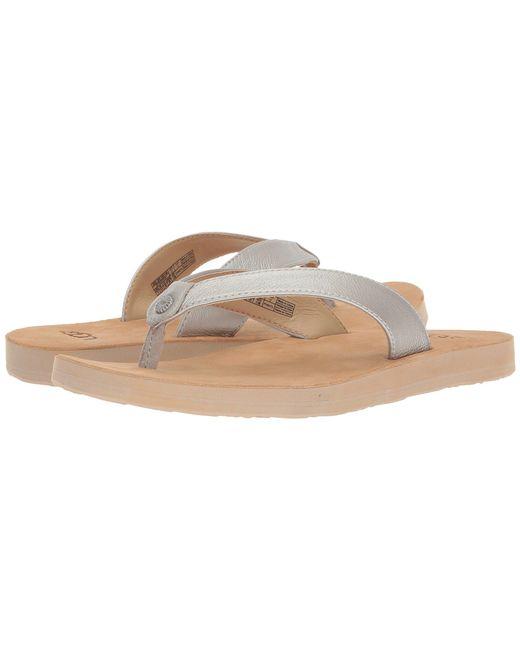 Ugg - Tawney Metallic (rose Gold) Women's Sandals - Lyst