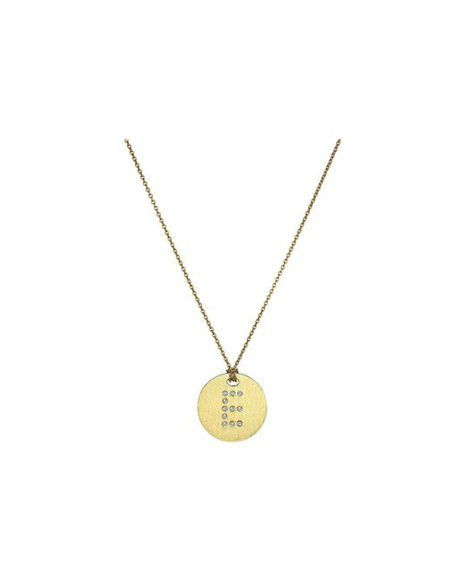 Roberto Coin - Metallic Tiny Treasures 18k Yellow Gold Initial E Pendant Necklace - Lyst