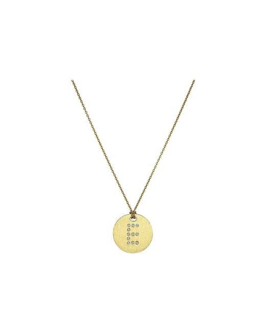 Roberto Coin | Metallic Tiny Treasures 18k Yellow Gold Initial E Pendant Necklace | Lyst