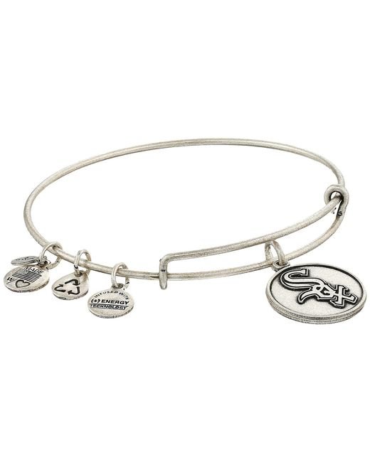 ALEX AND ANI - Metallic Mlb® Chicago White Sox Charm Bangle - Lyst