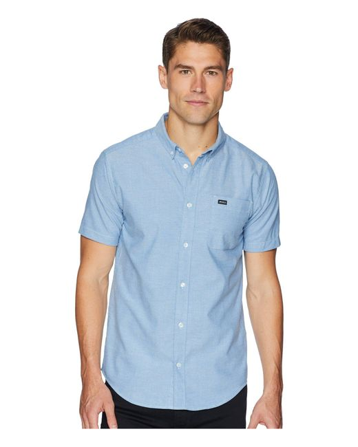 RVCA - Blue That'll Do Stretch Short Sleeve Woven (chai) Men's Clothing for Men - Lyst