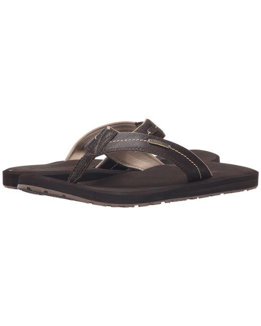 Flojos - Brown Zane (black) Men's Sandals for Men - Lyst