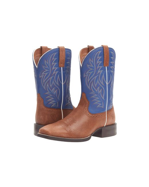Ariat - Brown Sport Western Wide Square Toe for Men - Lyst