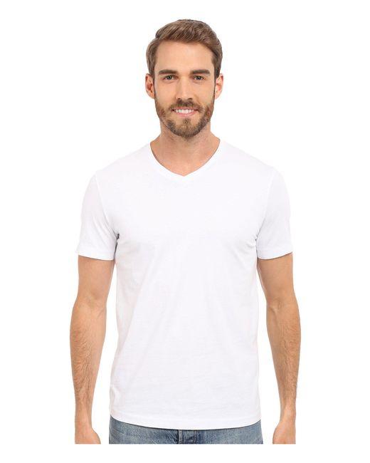 Mod-o-doc - White Del Mar Short Sleeve V-neck Tee (grey Heather) Men's T Shirt for Men - Lyst