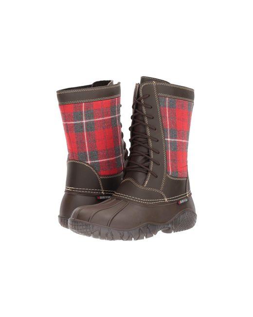 Baffin - Brown St. Claire (black Plaid) Women's Boots - Lyst