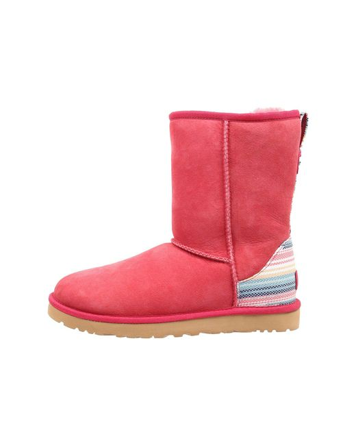 ... Ugg - Red Classic Short Serape (skyline Twinface) Women's Pull-on Boots ...