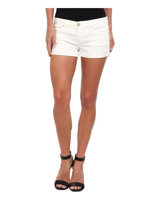 Blank NYC - The Basic Cuff Short In White Lines - Lyst