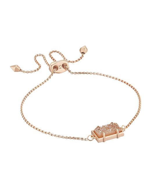 Kendra Scott - Metallic Phillipa Bracelet (sand Drusy/rose Gold Tone) Bracelet - Lyst