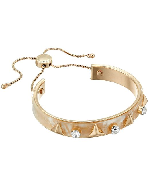 BCBGeneration Metallic Stud Acrylic Slider Bracelet