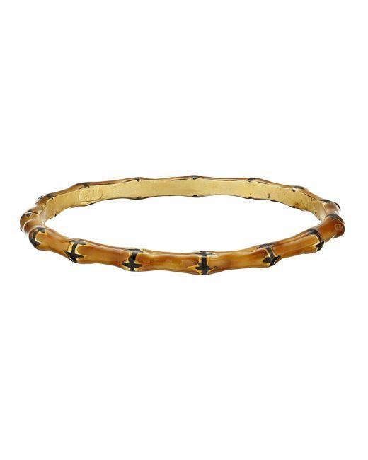 Kenneth Jay Lane - Brown Bamboo Bracelet - Lyst