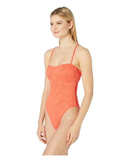6a8b51db458 ... Lucky Brand - Orange Doheny Beach One-piece Swimsuit (hot Coral) Women s  Swimsuits ...