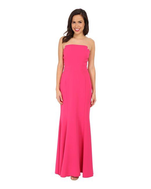 JILL Jill Stuart - Pink Strapless Crepe Mermaid Gown - Lyst
