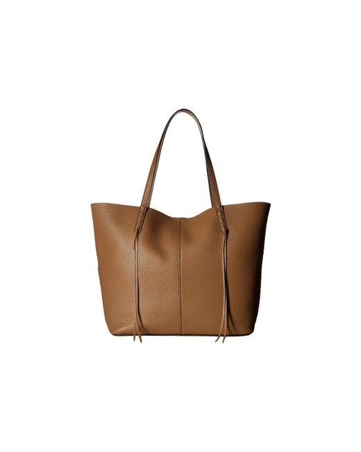 Rebecca Minkoff - Brown Medium Unlined Tote With Whipstitch - Lyst